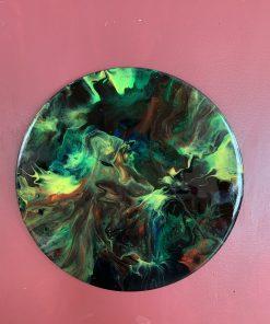 "12"" MDF Round Acrylic Painting"